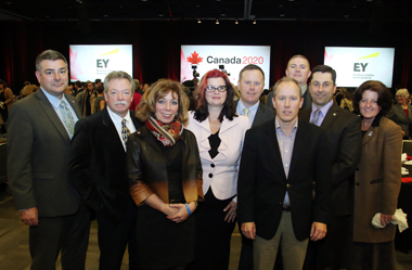 With IATSE, the NAC and OSEG at the Hillary Clinton Luncheon, October 6, 2014 Photo Credit:  Fred Chartrand